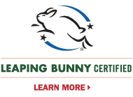 Leaping Bunny Certified. Learn more